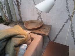 Wall Paper Blanket Grey White Woud Grijs Wit Muurbehang Behang Deken