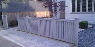 contemporary front garden fence and