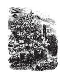 Miriam McGregor: Somerset Garden - Slightly Foxed, Wood Engraving