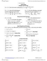Mat 1320 Lecture Notes Inflection Quotient Rule Mean Value Theorem