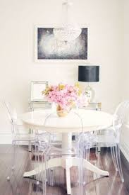 white dinning table ghost chairs br accents from find this pin and more on home dining