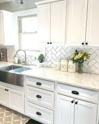 black and white backsplash view in gallery black white and green kitchen backsplash black countertop white