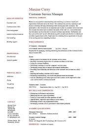 Cv Resume Sample Custom Customer Service Manager Resume Sample Template Client