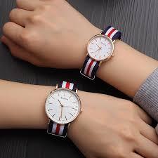Nylon Couple <b>Watch Fashion Men Women</b> Nylon Dress Bracelet ...
