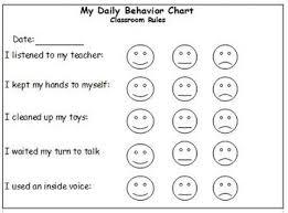Daily Behavior Chart For Preschoolers