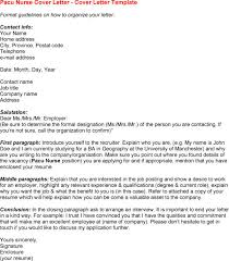 Pacu Nurse Resume Cover Letter Pacu Nurse Cover Letter Sample