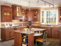 Kitchen:Small Kitchen Design With Island As Marble Countertop Idea And  Track Lighting Design Modern