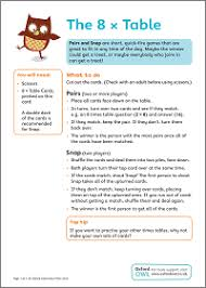 Times Table Activities Oxford Owl