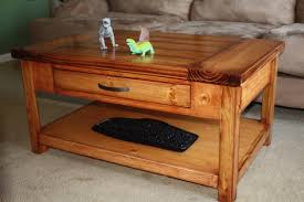 phenomenal wooden coffee table with drawer end ana white diy project tall round storage glass top