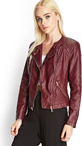 forever 21 textured faux leather jacket