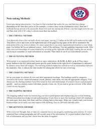 Methods Of Charting Note Taking Methods