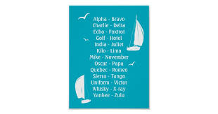 Commonly when used professionally in relaying abbreviations or letter codes, such as registrations, for example by the police, military, other emergency services or in air traffic control, the. International Phonetic Alphabet Boats Shipping Poster Zazzle Com