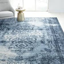 distressed blue rug nuloom vintage
