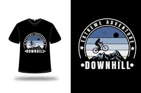 Premium Vector | T-shirt mountain extreme adventure <b>downhill color</b> ...
