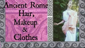Ancient Roman Hair Style ancient rome hair makeup & clothes youtube 7912 by wearticles.com