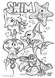 Small Picture ocean animal coloring pages
