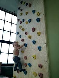 rock wall for kids large climbing holds at good idea diy construction stone art