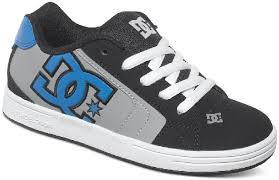 dc skate shoes blue. dc net kids skate shoes - black/grey/blue dc blue e