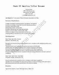 Resume For Bank Teller Inspirational Teller Job Description For