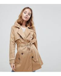 asos natural asos design petite classic trench coat lyst