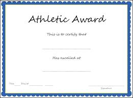 Award Template Word Certificate Performance Award Sample Wording