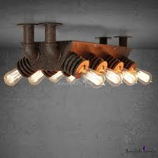 11 light loft wrought iron led close to ceiling pipe light takeluckhome com