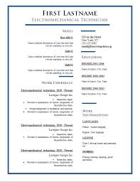 Simple Resume Template Word 20 Free Example Of Format Dietician ...