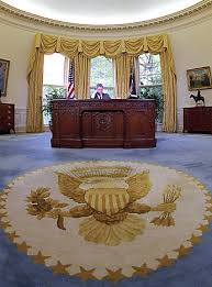 oval office rug. President Bill Clinton Later Chose A Different Color Carpet With New Eagle Emblem Oval Office Rug