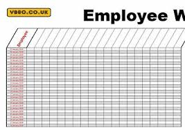 2019 Staff Employee 365 Day Holiday Work Planner Chart A1