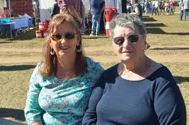 Karen and Lena Johnson enjoy the beautiful weather and live ... | Buy  Photos Online | Daily Mercury