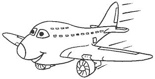Kleurplaat Vliegtuig Animaatjesnl