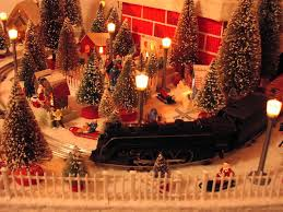 christmas trains and village