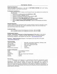 Resume Template Simple Samplee For Software Tester Fresher