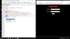Login page Design in Html Using Notepad (Simple Way )