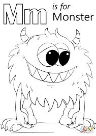 Small Picture Letter M is for Monster coloring page Free Printable Coloring Pages