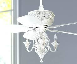 vintage chandelier ceiling fan antique white with shabby chic light kit decorative fans lights