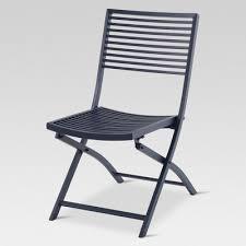 Folding patio chairs High Back Target Aluminum Slat Folding Patio Bistro Chair Project 62 Target