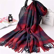 ADZPA Thick <b>Warm</b> Ladies Scarf <b>Autumn</b> And <b>Winter</b> Shawl Plaid ...
