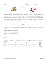 What Is The Metric System Conversion Chart Metric System Conversion Chart Worksheet Example Pdfsimpli