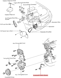 Toyota camry v engine diagram were is the crank sensor located on a full
