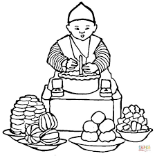 Small Picture Korean Food coloring page Free Printable Coloring Pages