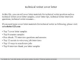 Technical Writer Cover Letter No Experience Writting A Cover Letter How To Write Cover Letters Writing A Cover
