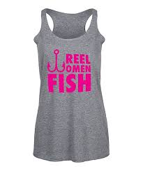 Zulily Size Chart Instant Message Womens Athletic Heather Reel Women Fish Racerback Tank Women