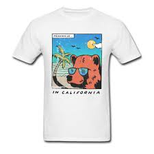 Bear T Shirt Design Us 6 37 41 Off California Bear T Shirt Men Travel T Shirts Old School Funny Design Clothes Cotton White Tops Tees New Year Day Father Gift In