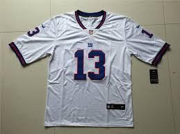 York Beckham Odell Stitched Jersey Football White Giants Jr 13 New Men's