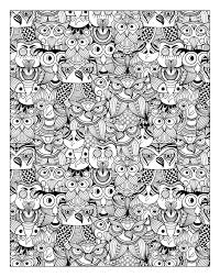 Free Coloring Page Coloring Adult Owls