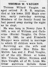 Obituary - Thomas Willard Vaughn - pt 1 Altoona Tribune - 17 Oct 1936 -  Newspapers.com