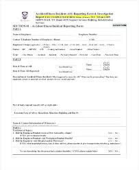 Accident Investigation Report Template Form Doc Free