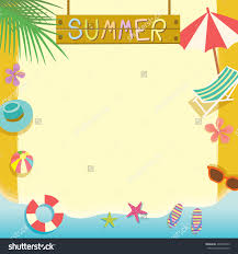 summer beach holiday concept vector templatenotepad stock vector summer beach holiday concept vector template notepad memo poster cute design space