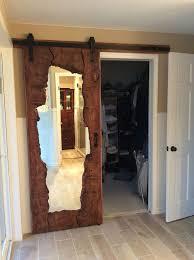 mirrored closet doors mirrored barn door mirrored sliding barn door wood sliding closet doors faux barn door mirror